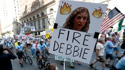 Sweltering in Philly took on new meaning Monday as supporters of Bernie Sanders vented their anger at the email scandal that cost party chair Debbie Wasserman Schultz her job -- then turned up the heat at the opening of the Democratic National Convention.