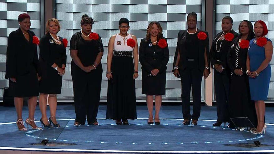 The mothers of Eric Garner, Trayvon Martin, Jordan Davis, Mike Brown, Hadiya Pendleton, Dontré Hamilton and Sandra Bland make the case for Hillary Clinton at the Democratic National Convention