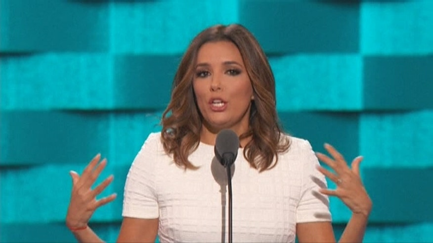 Eva Longoria speaks at the Democratic National Convention.