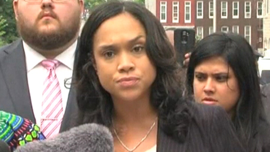 State's Attorney Marilyn Mosby holds presser after dropping charges against remaining police officers involved in Freddie Gray case
