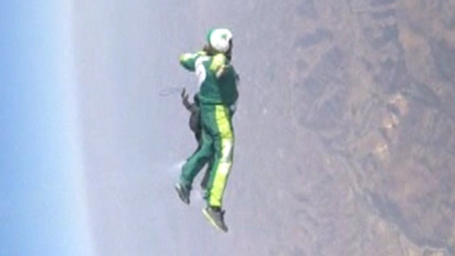 Leap of faith: Skydiver jumps from plane without parachute
