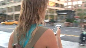 Look-Up app alerts users on their phones when they're approaching an obstacle