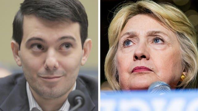 'Pharma Bro' 'diagnoses' Hillary Clinton with Parkinson's