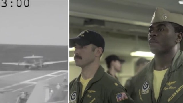 Pilots honored for saving plane after deck mishap