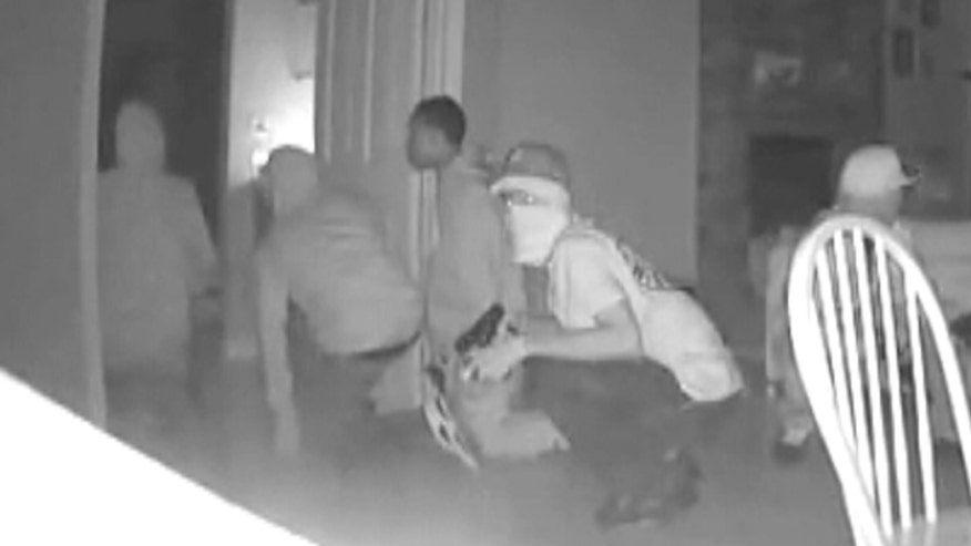 Raw video: California cops release surveillance video of group suspected in Fremont, California break-ins