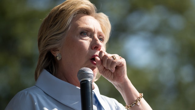 Coughing fit interrupts Hillary Clinton's Labor Day speech