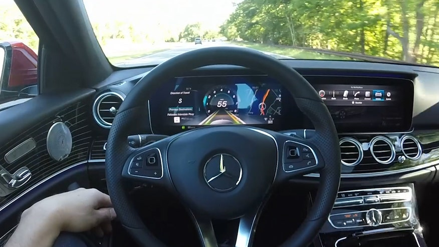 Gary Gastelu gets taken for a ride in the self-steering 2017 Mercedes-Benz E300.