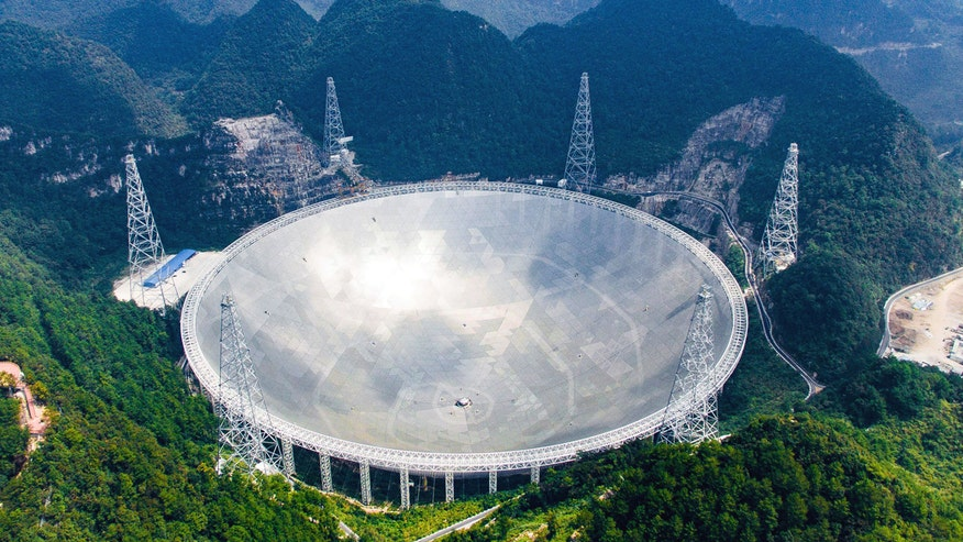 World's largest radio telescope in China completed, will be used to explore the universe and possibly detect alien transmissions
