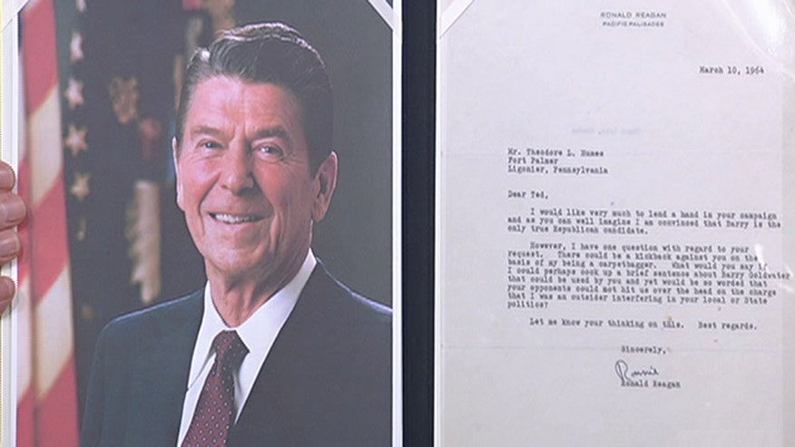 Nathan Raab shows off letters from Lincoln, Reagan on the 'After the Show Show'
