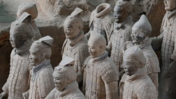 Archaeologists have unearthed evidence that ancient Greeks may have helped design the famous Terracotta Army, which could shed new light on China's early contact with the west.