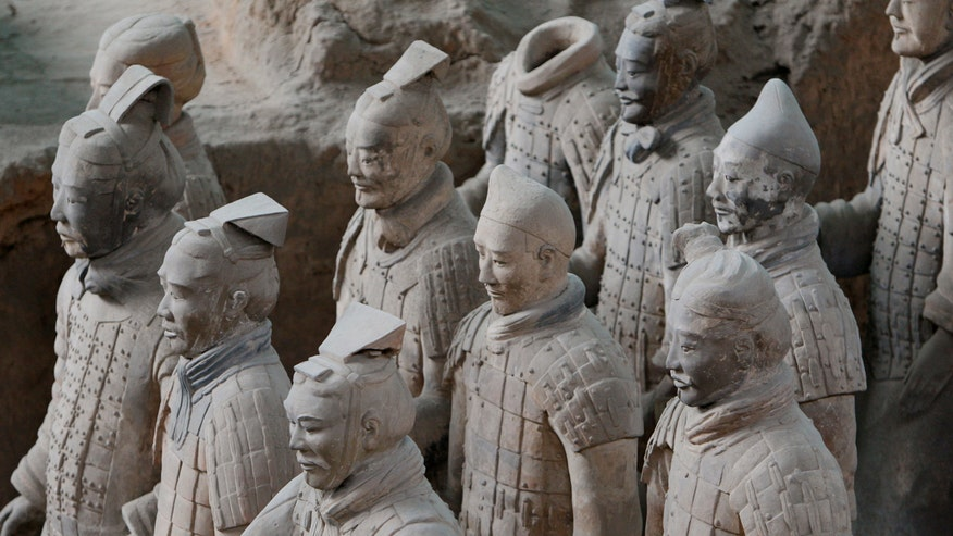 Experts believe China's Terracotta Army was influenced by ancient Greek sculptors, traveled to China 1,500 years before Marco Polo's famous journey to Asia