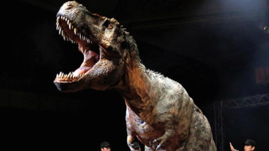 Japanese company unveils life-sized, human-controlled robotic dinosaurs. A 'Jurassic Park'-like dinosaur theme park is in the works