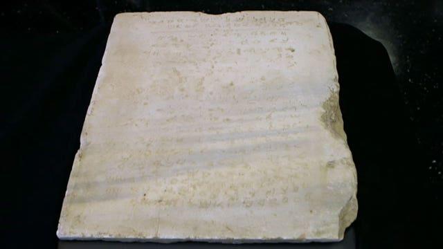Ancient Ten Commandments slab up for auction