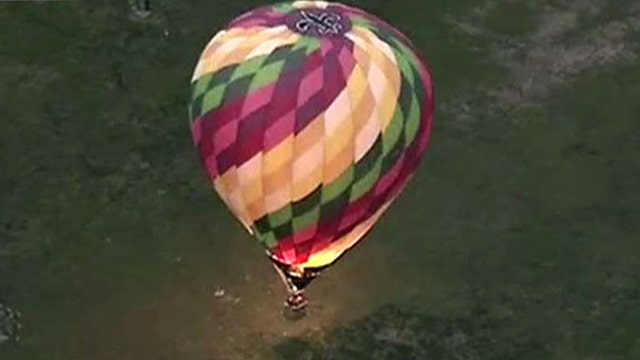 Hot air balloon makes crash landing in Philadelphia
