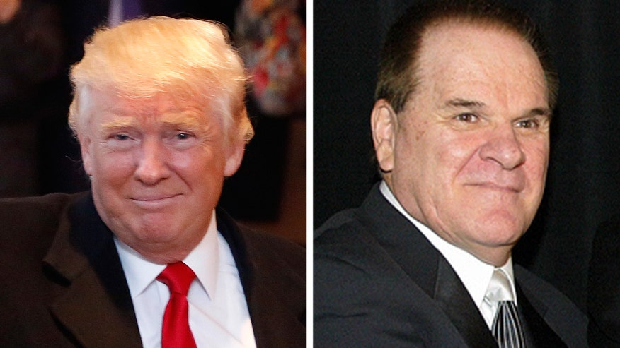 Pete Rose garners one write-in 'vote' for Baseball Hall of Fame, but due to his lifetime ban for betting on baseball, it does not count. President-elect Donald Trump has voiced and tweeted his support for the embattled 'Hit King'