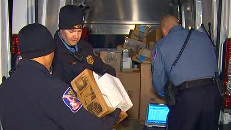 Howard County police apprehend two men in Maryland, with 77 stolen packages in the back of their truck