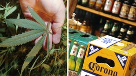 Report finds consumers are choosing to buy marijuana over beer in states where recreational cannabis is legal