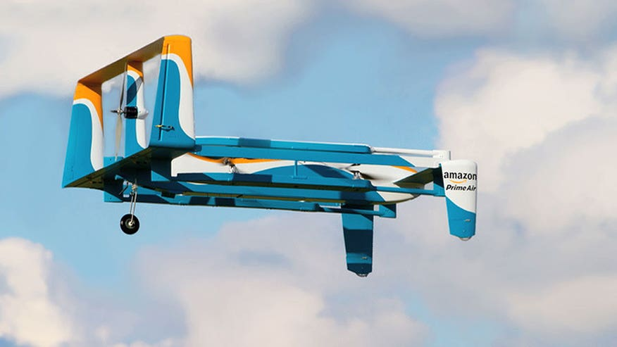 Amazon makes first ever drone delivery in the UK. Releases video showing step-by-step process of automated delivery service