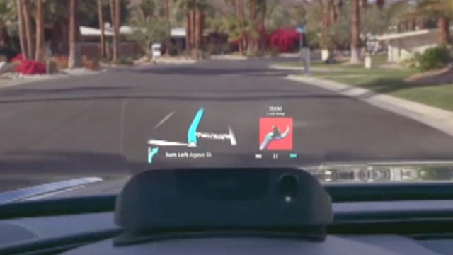 Device featuring heads-up display can make driving safer