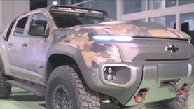Kevin Centeck of the U.S. Army Tank Automotive Research Development and Engineering Center gives FoxNews.com a look at a new hydrogen fuel cell powered truck designed for covert operations.