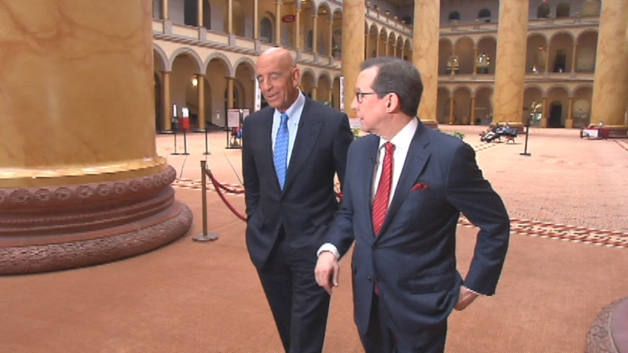 Presidential Inaugural Committee Chairman Tom Barrack tells Chris about Salute Our Services Ball being held at the National Building Museum