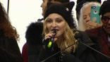 Raw video of the singer's remarks at the Women's March on Washington