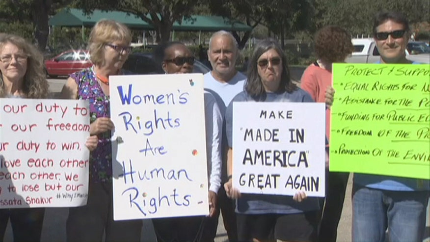 Julie Banderas reports on marches planned by women's groups and other demonstrations