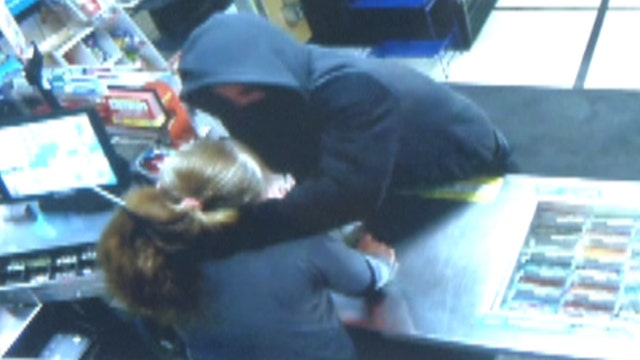 Terrifying gas station robbery caught on camera