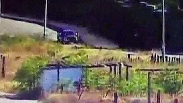 Footage of border breach