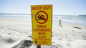 Spill occurred during pipe repairs in Mexico, flowing from the Tijuana River