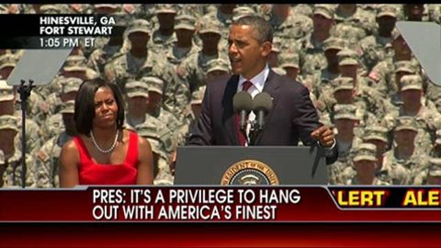 Obama hails government 'investment' to the troops