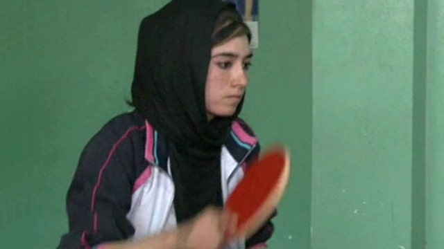 Female ping pong star emerges in Afghanistan