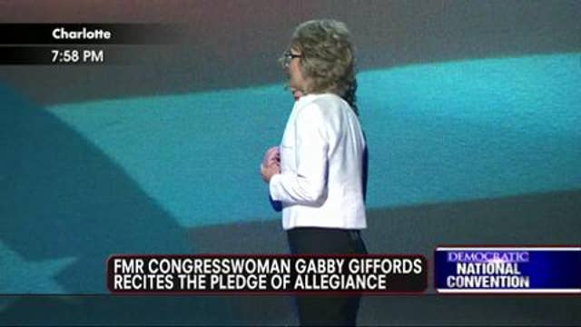 Gabby Giffords Recites the Pledge of Allegiance at the DNC