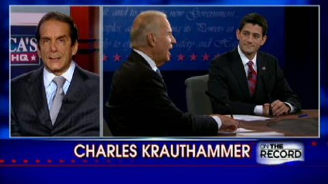 Krauthammer's Analysis: If You Heard the Debate on the Radio, Biden Won; If You Watched it on TV, He Lost