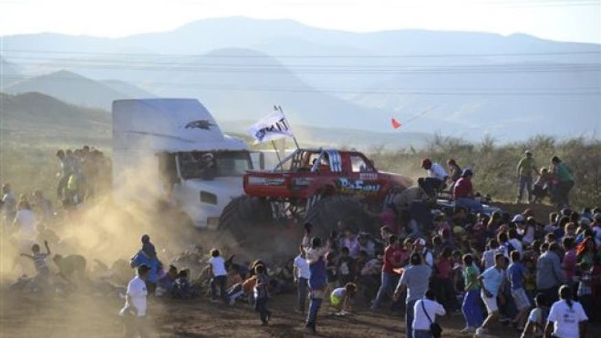 The driver of a monster truck that shot into a crowd of spectators at a Mexican air show, had alcohol in his breath.