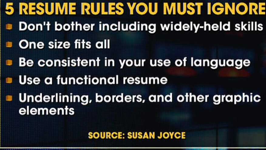 Editor of Job-Hunting.org, Susan P. Joyce explains the dos and don'ts of resume writing.