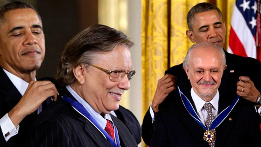 Cuban musician Arturo Sandoval and Mexican chemist Mario Molina receive the Presidential Medal of Freedom.