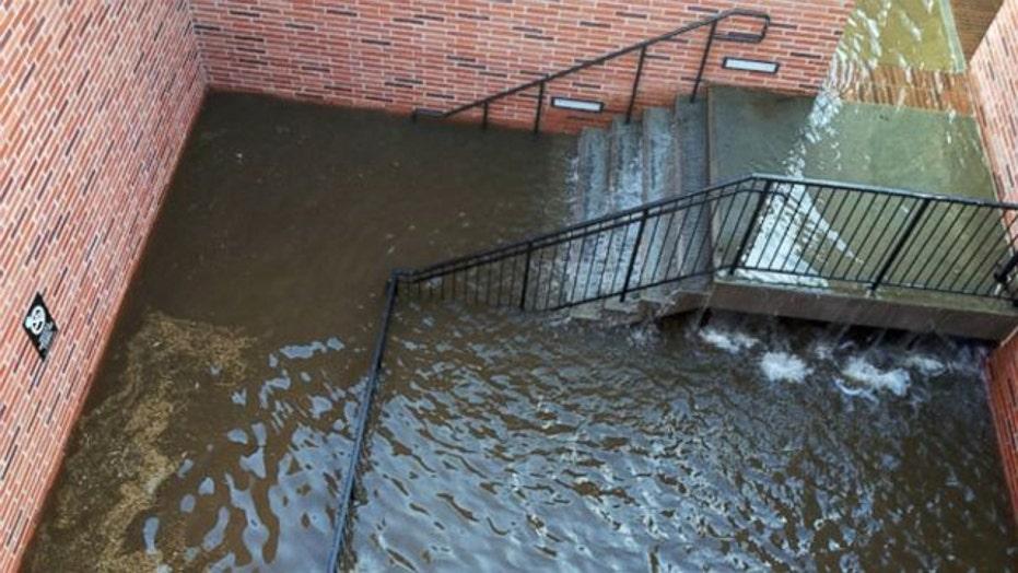Massive water main break floods UCLA campus