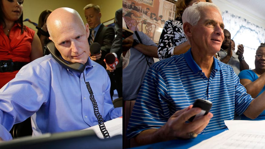 With Florida Gov. Rick Scott and former governor Charlie Crist virtually tied, Hispanic voters could determine who wins the state's gubernatorial .