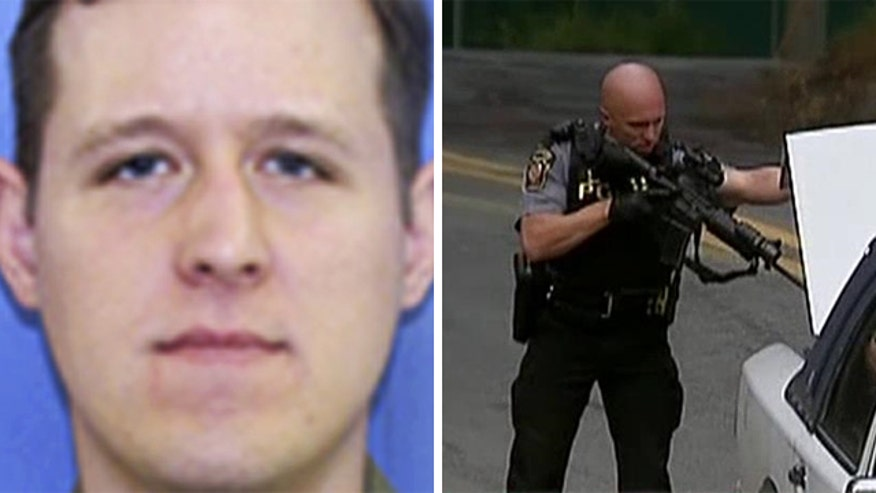 Gunfire exchanged last night between officials and suspect
