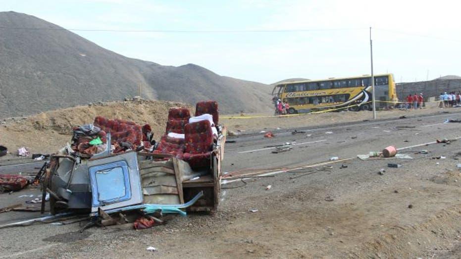 Bus crash kills 37, injures 84 others in Peru