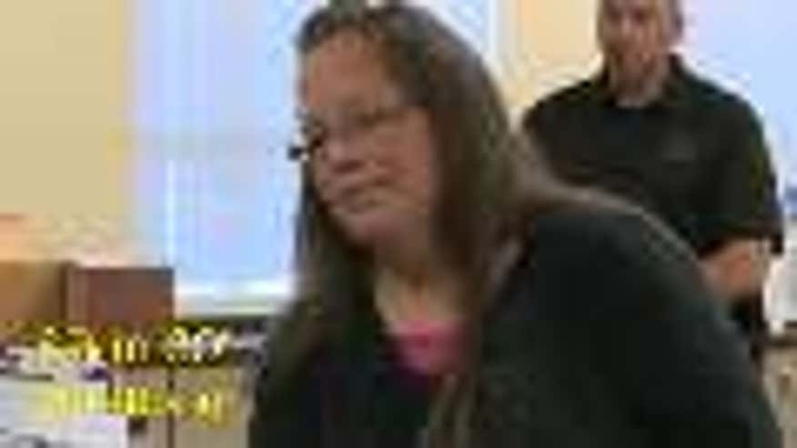 A federal judge has ordered Kentucky County Clerk Kim Davis to jail because she refuses to grant same-sex marriage licenses. Davis cites her religious beliefs, but the judge said she left him no choice.