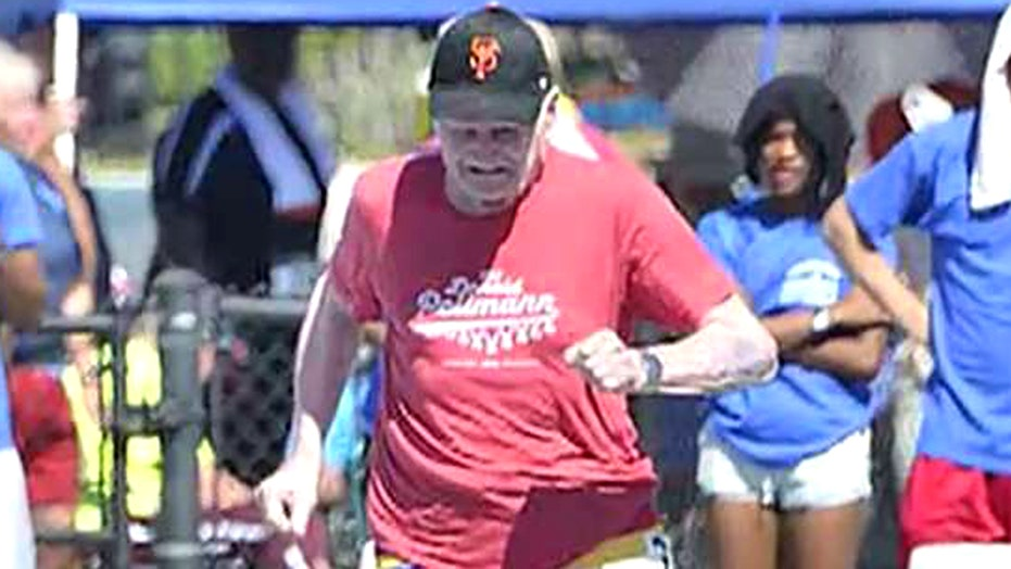 100-year-old man breaks 5 world records at Senior Olympics