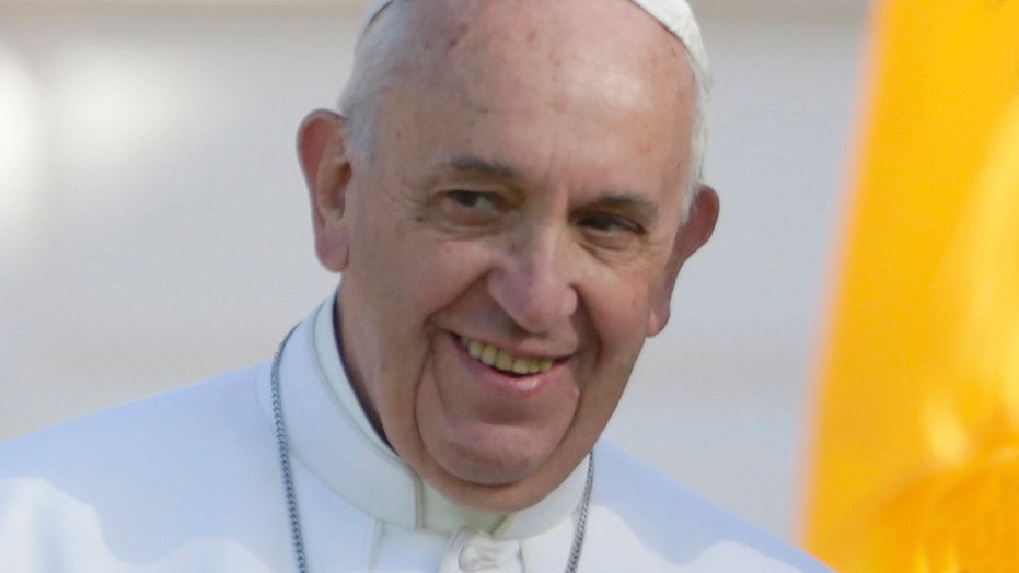 Pope Francis delivers first US address at White House