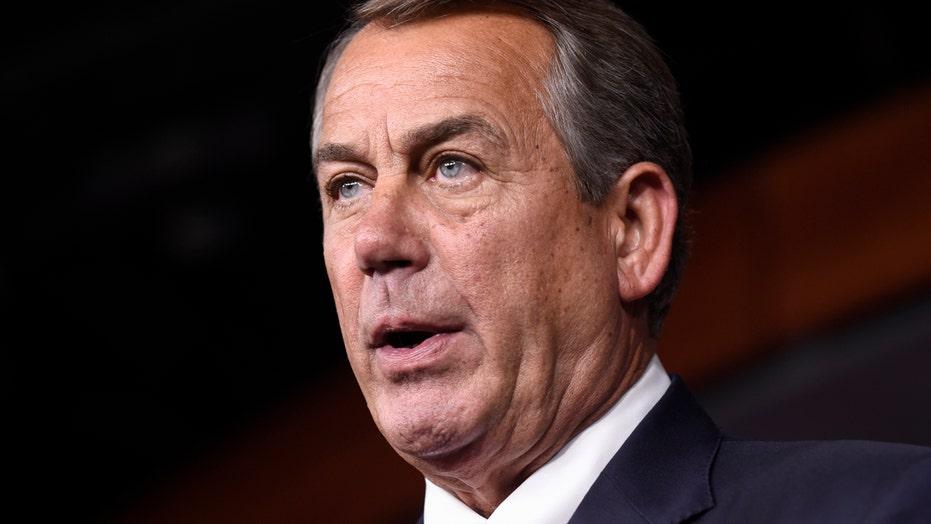 House Speaker John Boehner announces resignation
