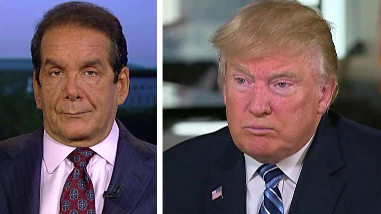 Krauthammer on Trump: 'He's a much better candidate than he was at the beginning'