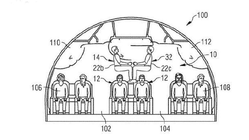 Airbus files patent for a cabin design that stacks passengers on top of each other