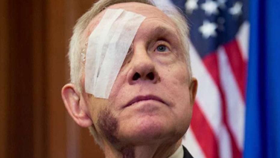 Eye for an eye? Harry Reid sues company over blinding injury