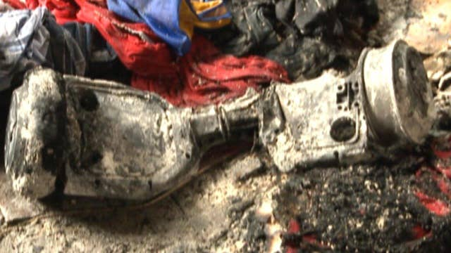 'Like a firework': 'Hoverboard' catches fire, damages home