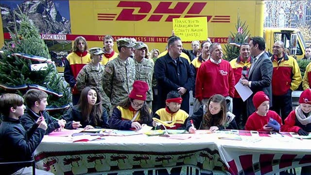 DHL's Operation Holiday Cheer deploys trees to soldiers